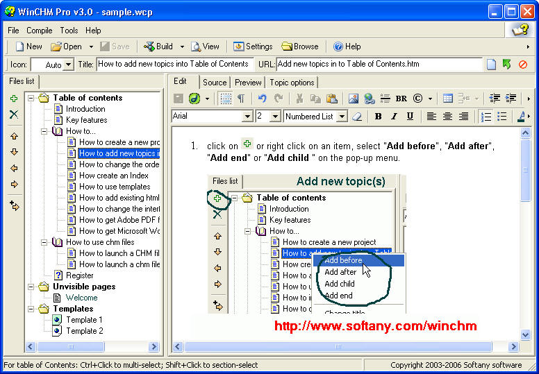 WinCHM [help Authoring Tool] 2.5 Free Download