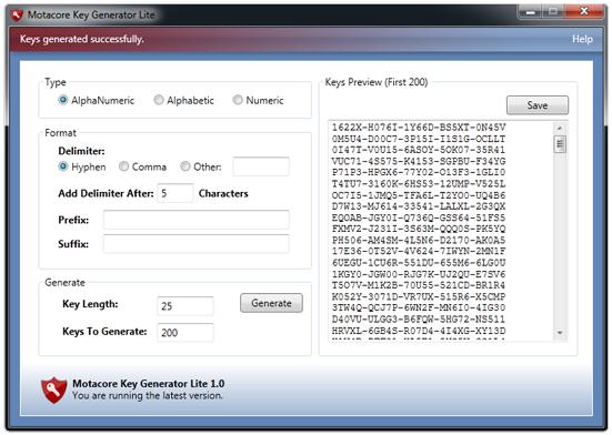 Generate. distribution. Price $14.99 / Demo. Key Generator Lite 1.0