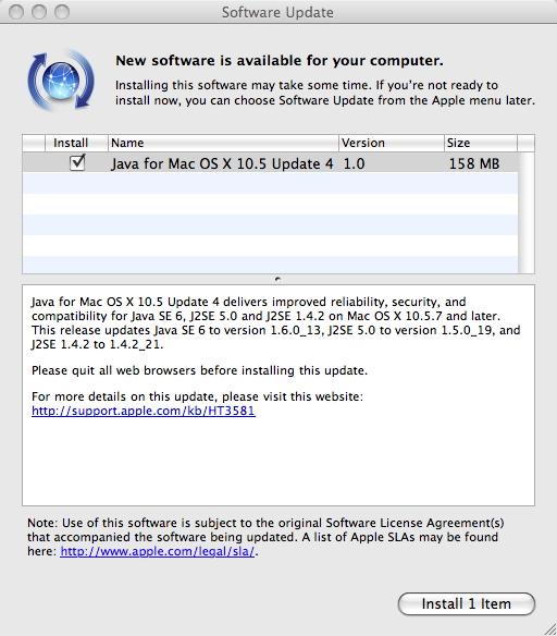 Java for mac 10.7.5