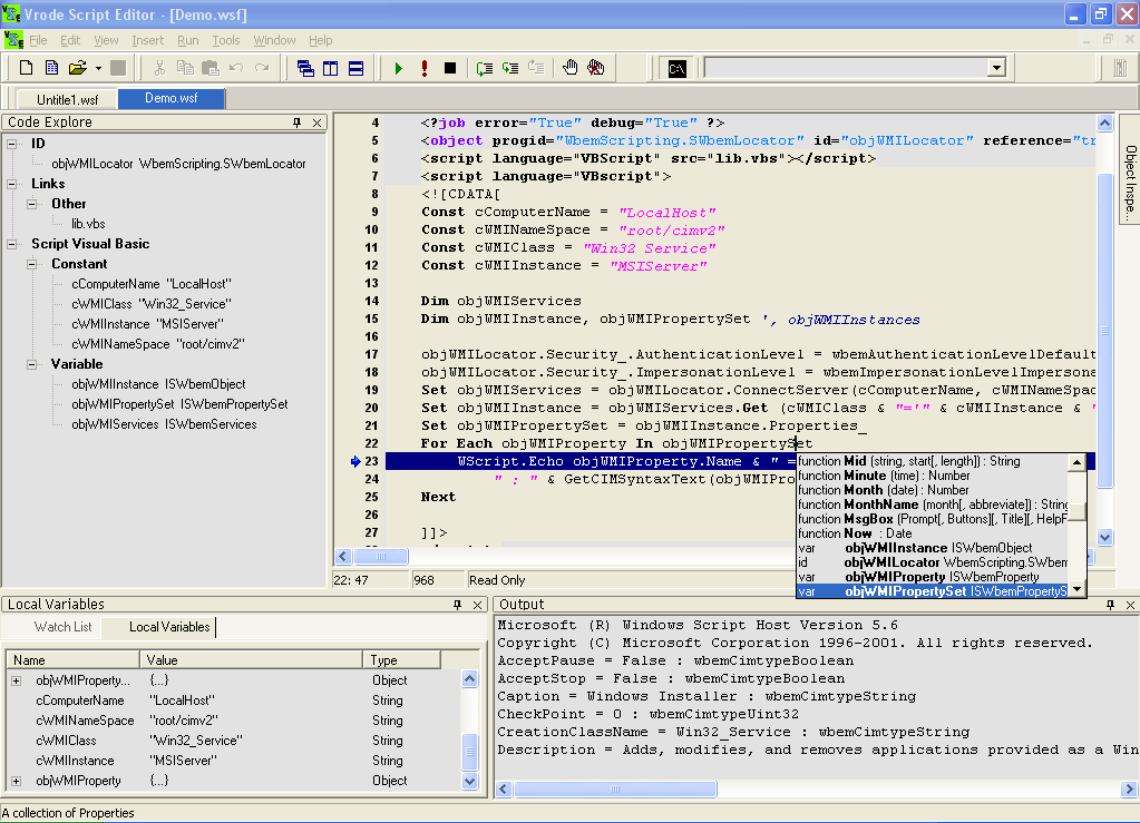 FileSystemObject.OpentextFile() : FileSystemObject « MS JScript « JavaScript Tutorial
