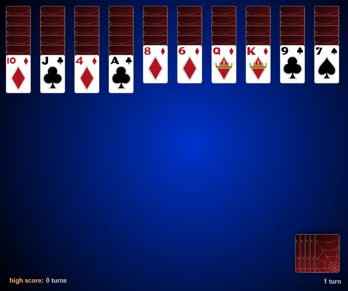 spider solitaire card games