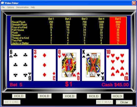 Flash games video poker combinaison au poker 5 lettres