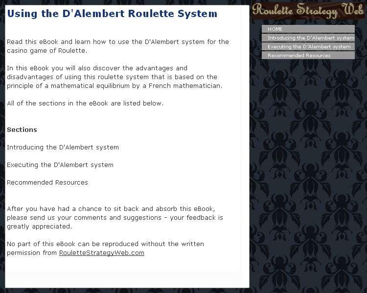 D'alembert trading system