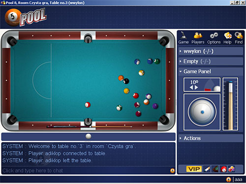 Online pool. free online billiard games by popyeah.com