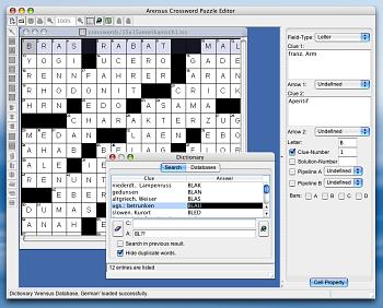 Описание Arensus Crossword Puzzle Editor.