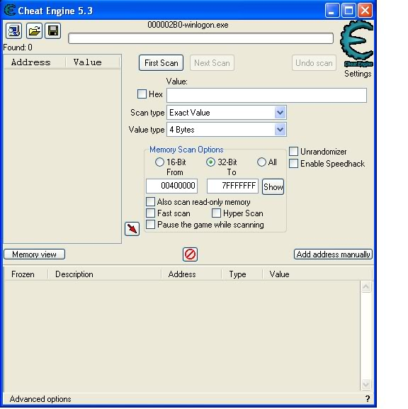 Open source Cheat Engine designed to modify games, Cheat Engine 6.0