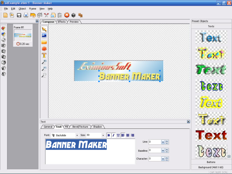 Eximioussoft Banner Maker Screenshots