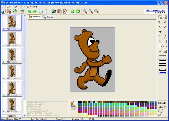 Longtion GIF Animator 5.0. ПодробнейСкачатьОтзывы.