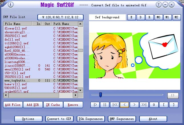 Программа Magic Swf2Gif.