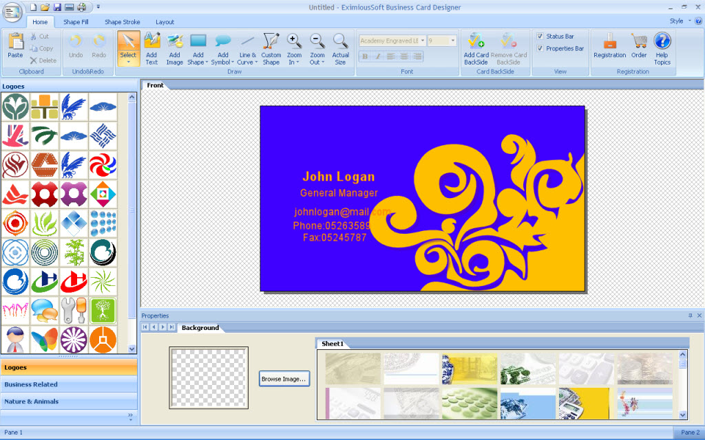EximiousSoft Business Card Designer 3.8 Free Download