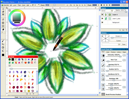 Mandala painter 3 screenshots Art design software