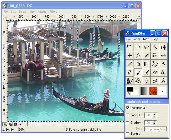 PaintStar freeware screenshot
