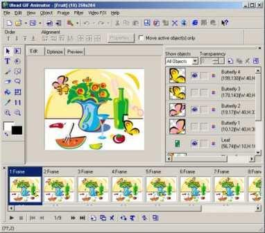 ���� ����� ����� ����� ������� scr-ulead-gif-animator.jpg