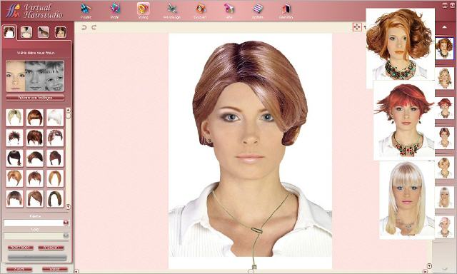 Unique virtual hairstyles software to try 1000's of hairstyles and hair