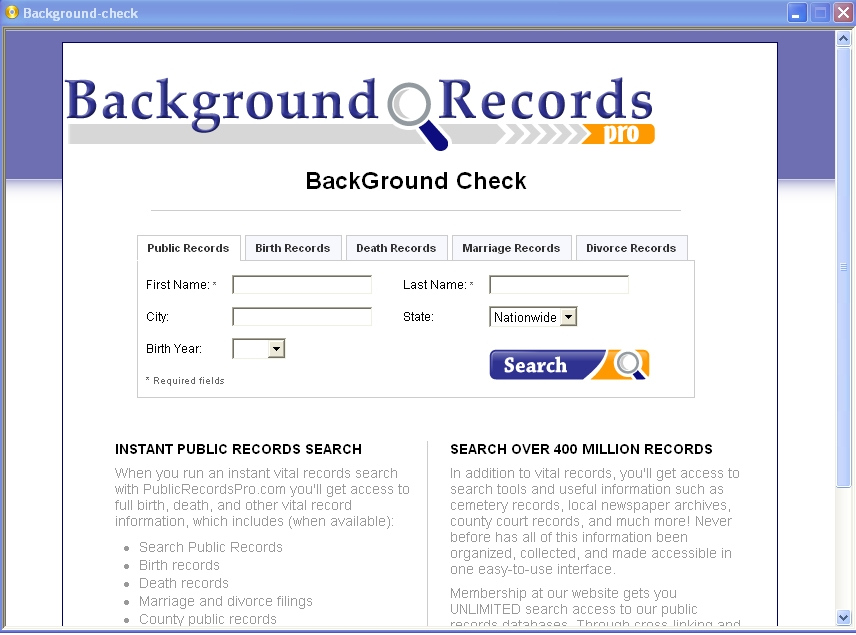 Online dating criminal record file check