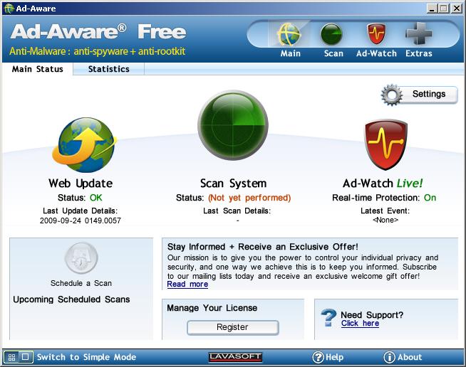 Ad Aware Free Anti Malware 8 2 Freeware Download