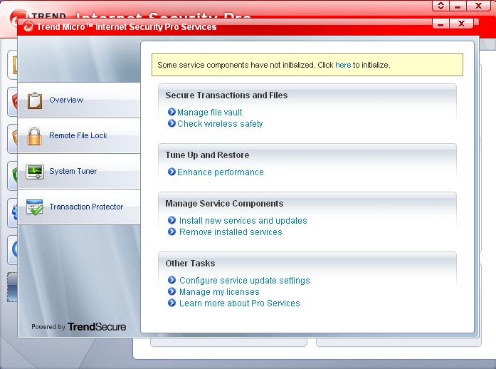 Trend Micro Internet Security Pro.