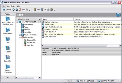 AVAST! 4.8.1335 Screenshots