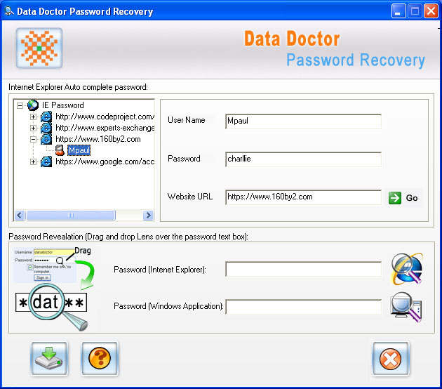 msn messenger password recovery program