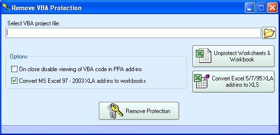 Vba recovery password Freeware
