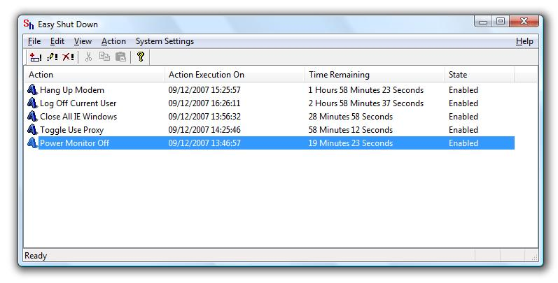 Easy ShutDown 3.4. time based/automatic/daily/monthly Actions and much