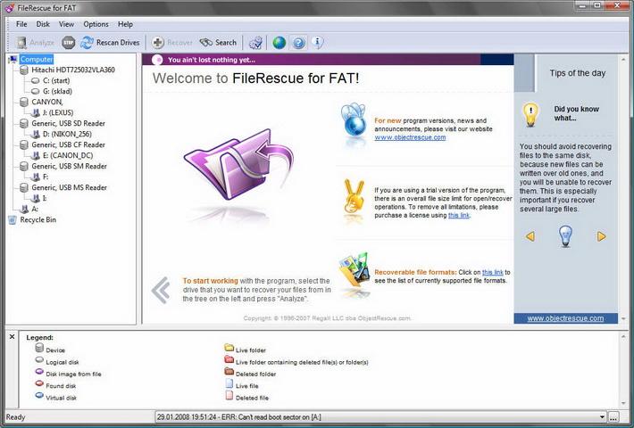 FileRescue Professional 3.0 скачать + кряк FileRescue Professional 3.0