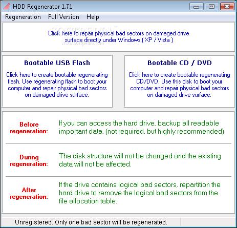 hdd regenerator 1.51 download