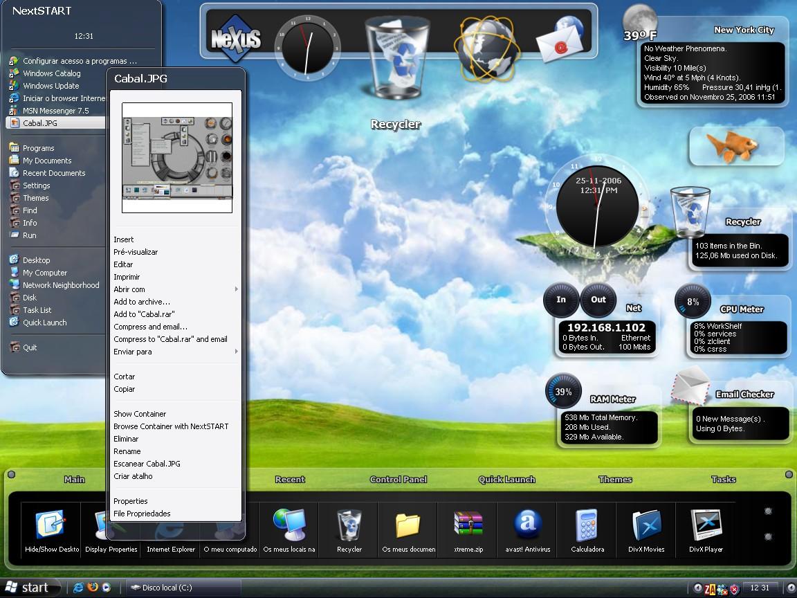 Новое решение в оформлении рабочего стола Winstep Xtreme призван