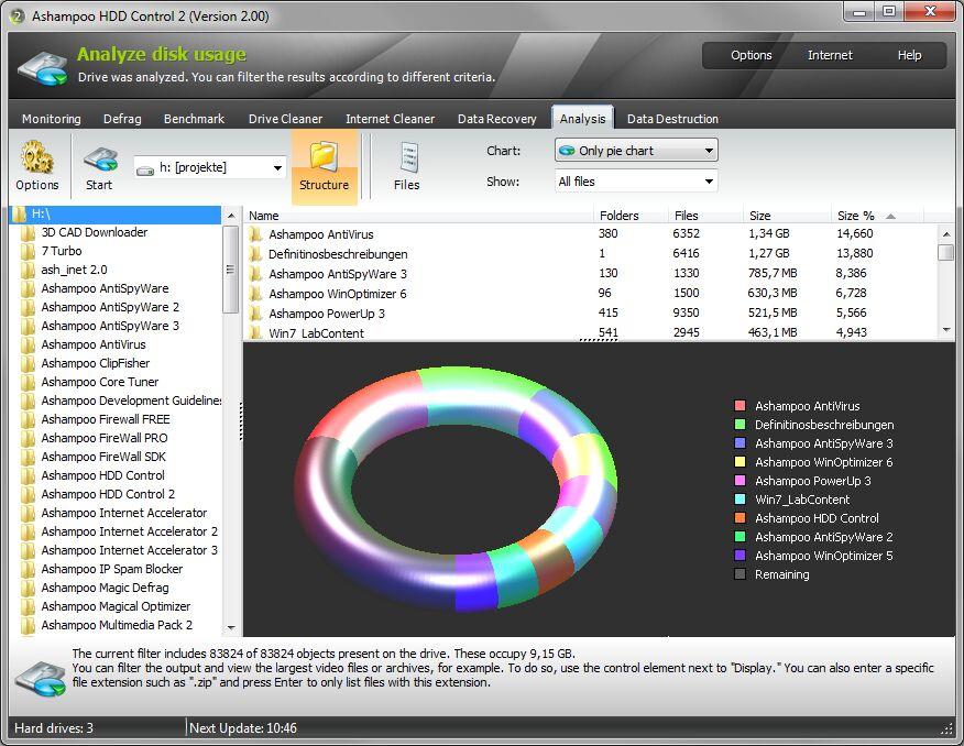Ashampoo HDD Control 2.10 + crack Русская версия.