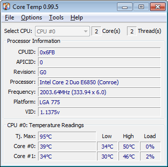 how to see cpu temp