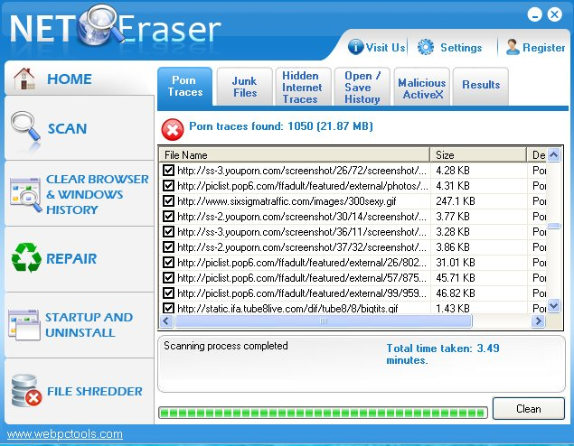 free full version porn eraser