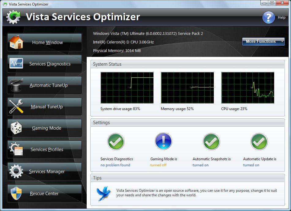 Vista services optimizer pro 13200 free download for Vista pri