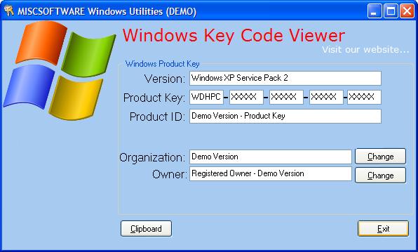 windows 7 key code finder