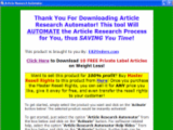Article Research Automator