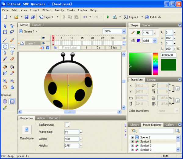 how to create flash animation in html