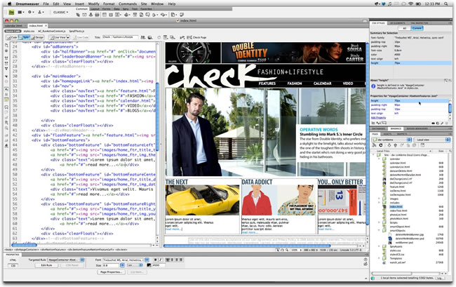 Adobe Dreamweaver Websites Adobe Dreamweaver Cs4 For Mac