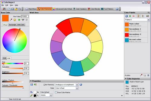 full size screenshot colorimpact color scheme designer publisher description - Color Scheme Designercom