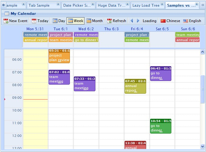 Weekly Calendar Using Javascript : Webd jquery event calendar planner freeware download