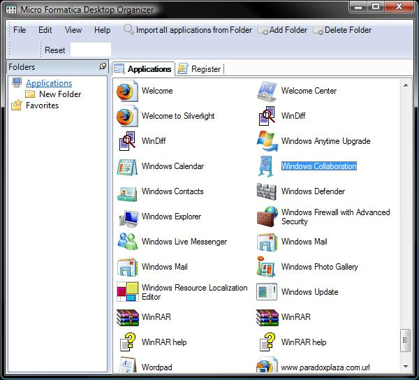 Desktop Organizer is a program that can be used to tidy up your windows...